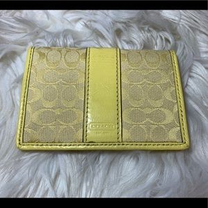 Small Yellow Coach Wallet